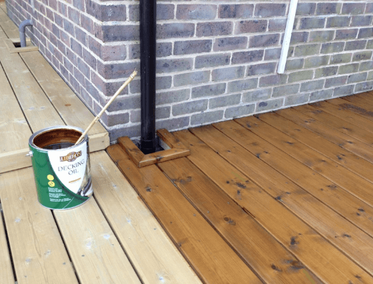 decking with liberon protective oil applied