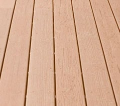 PVC plastic decking surface