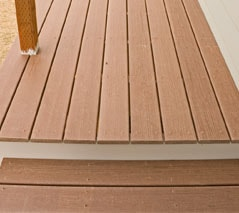 well maintained pvc decking surface