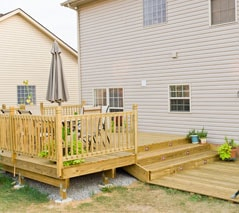 low-level raised deck