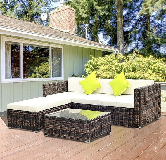 Outsunny 5pc rattan set
