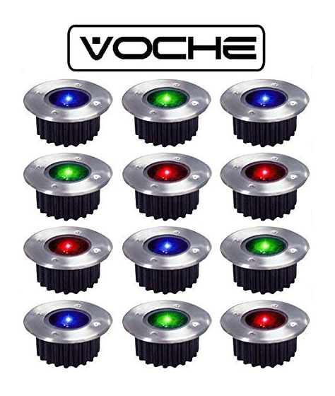 voche 12 wireless solar decking lights
