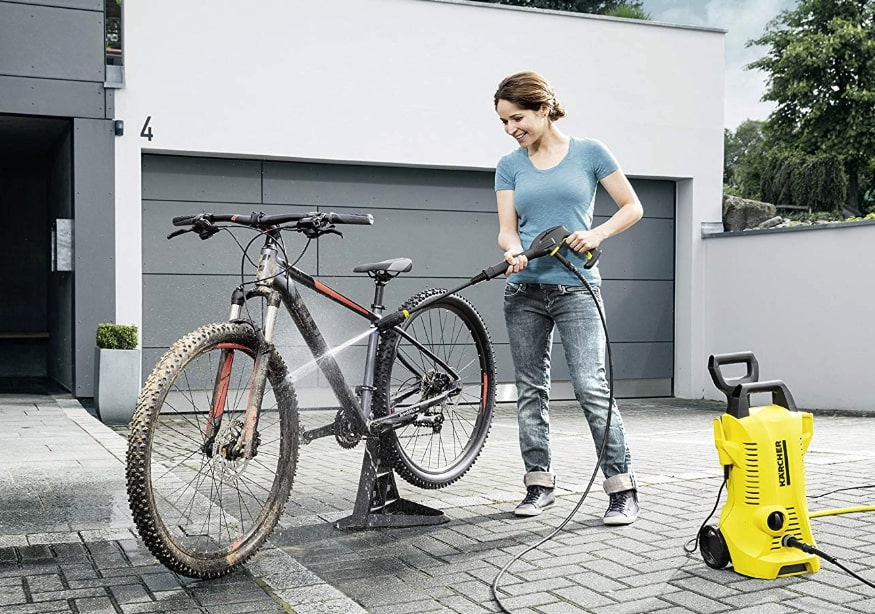 Karcher K2 spraying bike