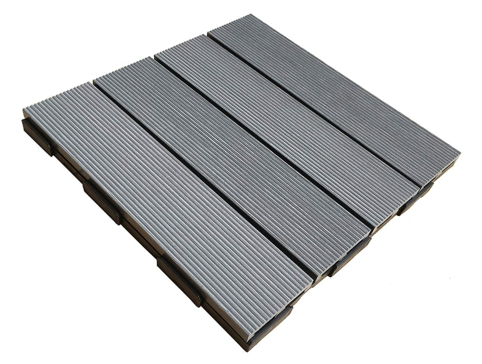 WPC interlocking deck tiles